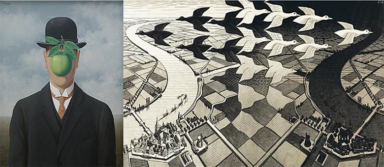馬格利特 vs. 艾雪:比利時超寫實主義&荷蘭幻覺藝術